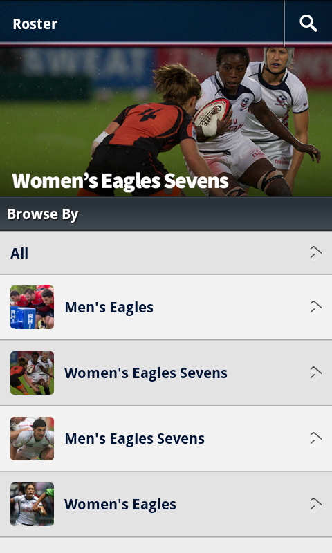 USA Rugby - screenshot