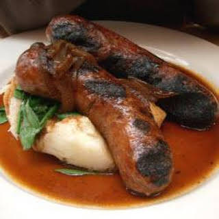 Bangers And Mash With Thyme Gravy.