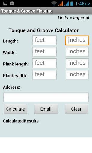 Tongue Groove Calculator