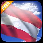 3D Austria Flag Live Wallpaper icon