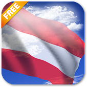 3D Austria Flag Live Wallpaper