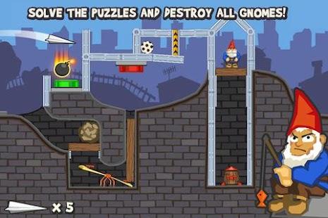 Paper Glider vs. Gnomes - screenshot thumbnail