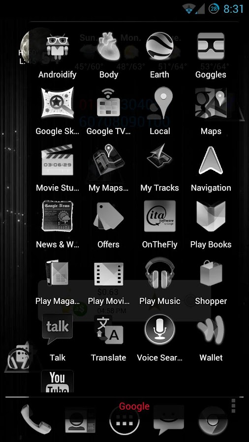 Black & White Icon THEME★FREE★ - Android Apps on Google Play