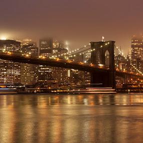 Brooklyn Bridge by Dominick Bianco - City,  Street & Park  Skylines (  )