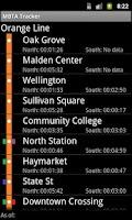 Screenshot of Orange Line Live MBTA Tracker