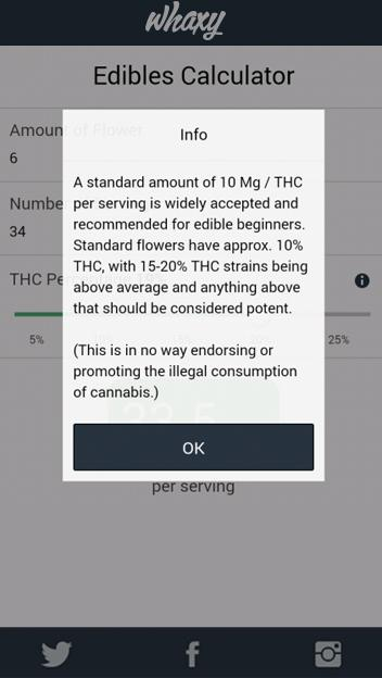 Marijuana Cooking Calculator- screenshot