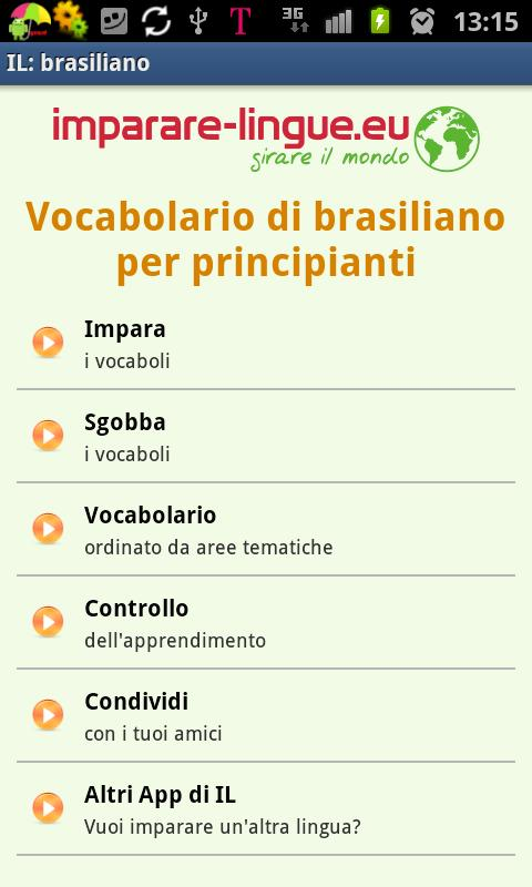 Imparare il brasiliano- screenshot