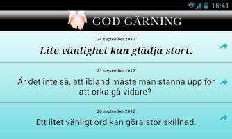 Screenshot of God gärning