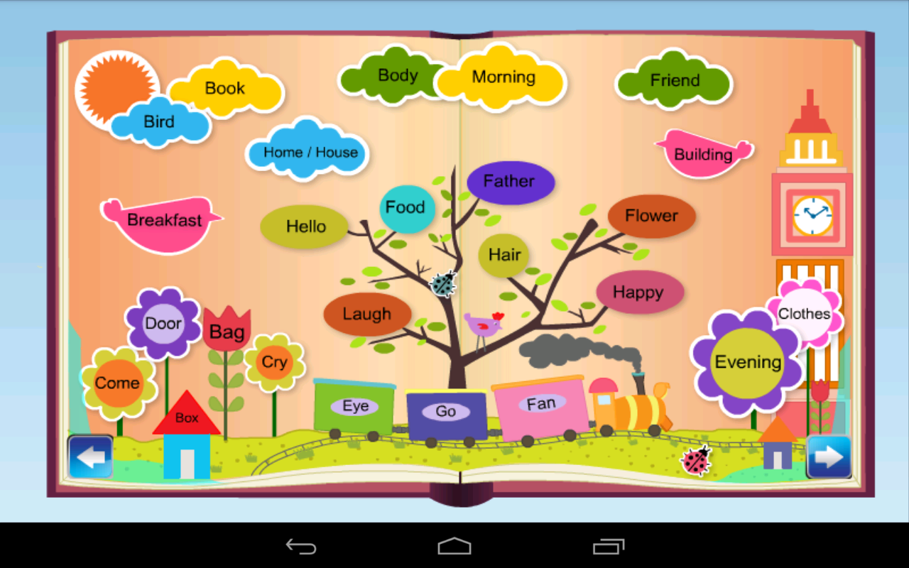 Worksheets At Words For Kids kids english to hindi words android apps on google play screenshot