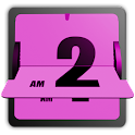3D Animated Flip Clock PINK logo