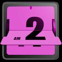 3D Animated Flip Clock PINK logo