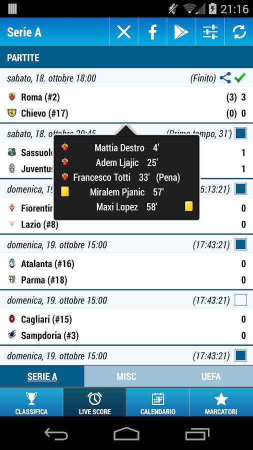 Serie A Soccer- screenshot