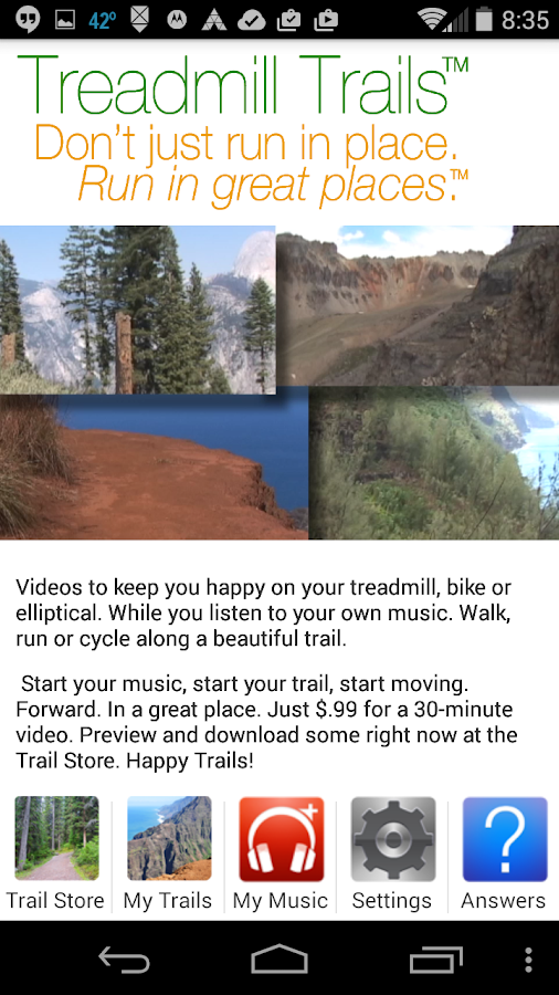 Treadmill Trails- screenshot