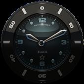 Clock Widget Black Star