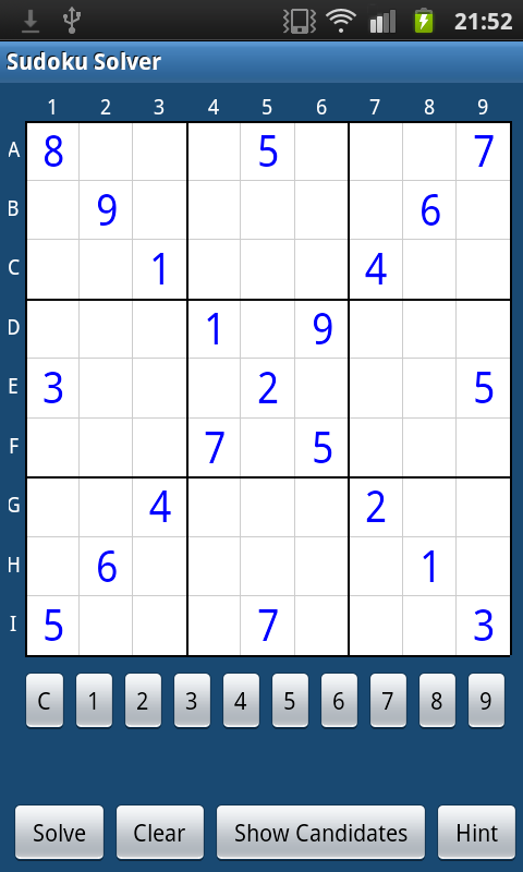 Sudoku Solver and Helper- screenshot