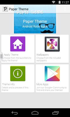 Paper theme - screenshot