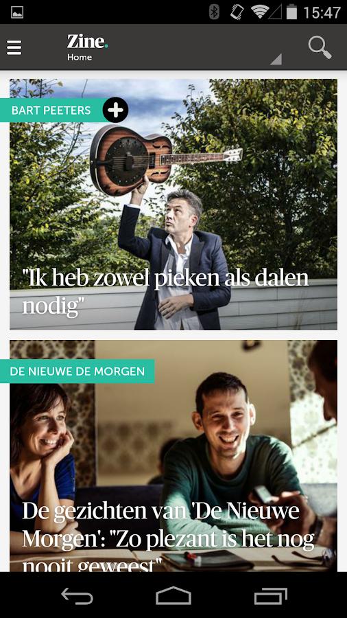 DeMorgen.be Mobile - screenshot