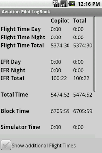 Aviation Pilot LogBook- screenshot thumbnail