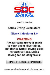Scuba Nitrox Calculator - screenshot thumbnail