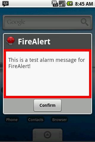 FireAlert- screenshot