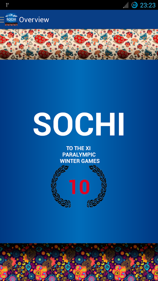 Sochi calendar - screenshot