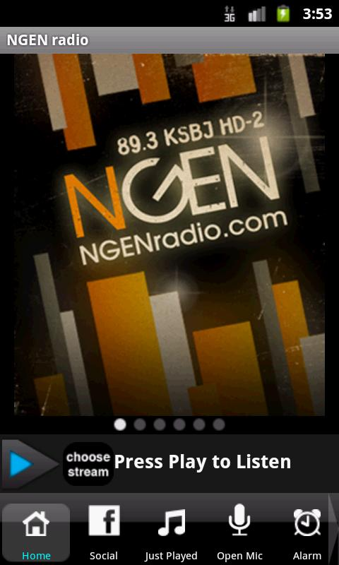 NGEN radio TODAY'S HIT MUSIC - screenshot