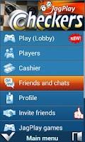 Screenshot of JagPlay Checkers and Corners