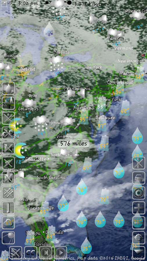 Animated weather Map and Radar- screenshot