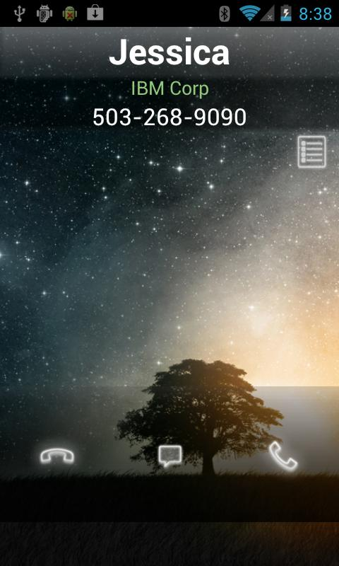RocketDial MU alike Caller ID - screenshot
