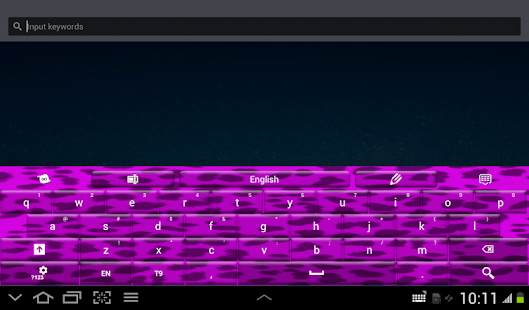 Purple Cheetah Keyboard Theme- screenshot thumbnail