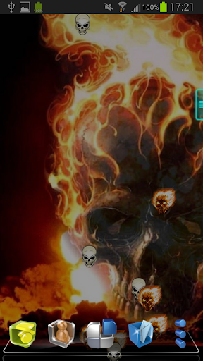 Skull Fire Live Wallpaper