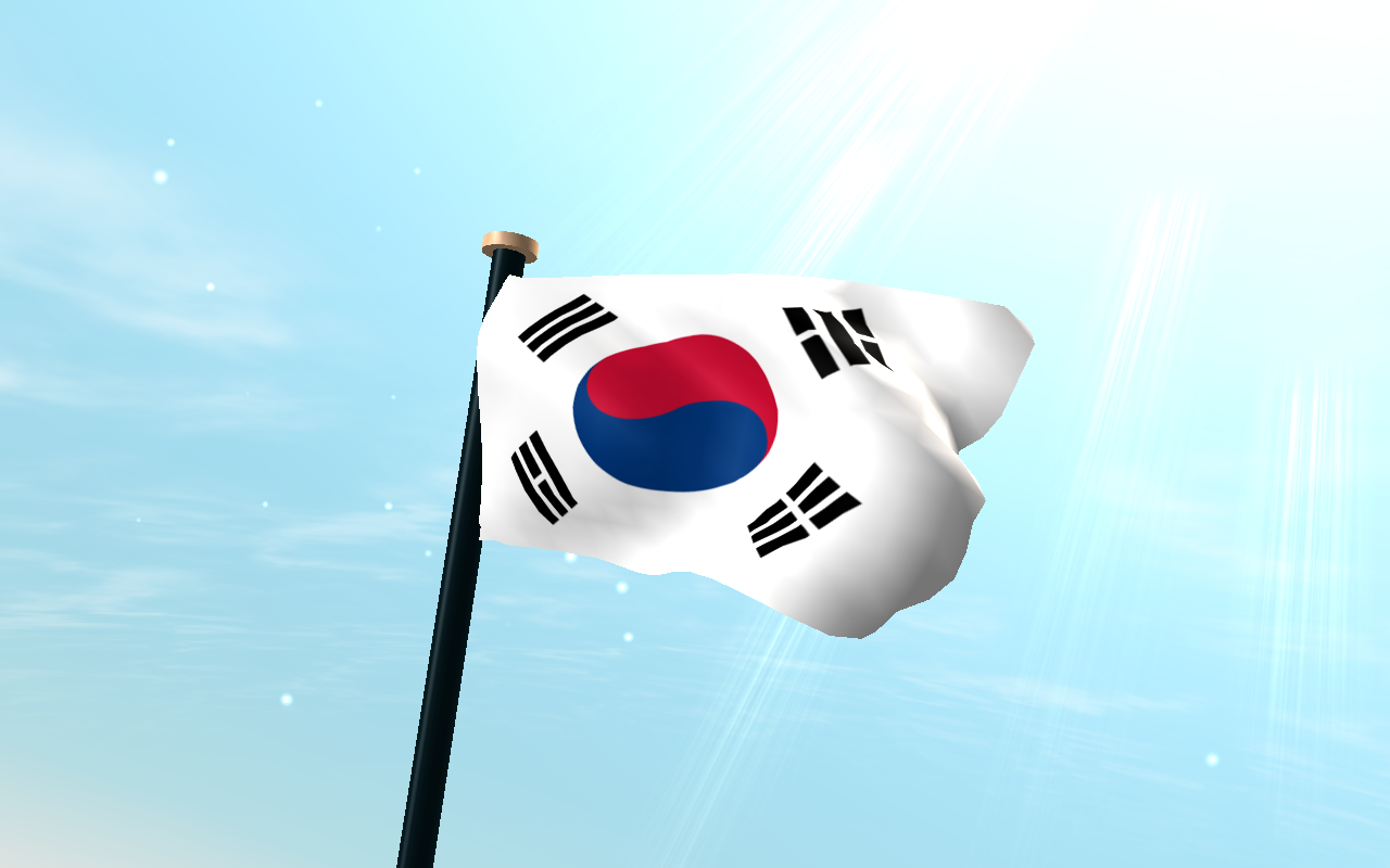 South Korea Flag 3D Wallpaper  Android Apps on Google Play