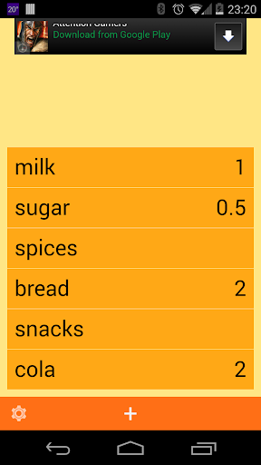 ListApp - grocery or TODO list