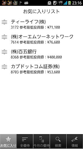 優待リスターFree for Android