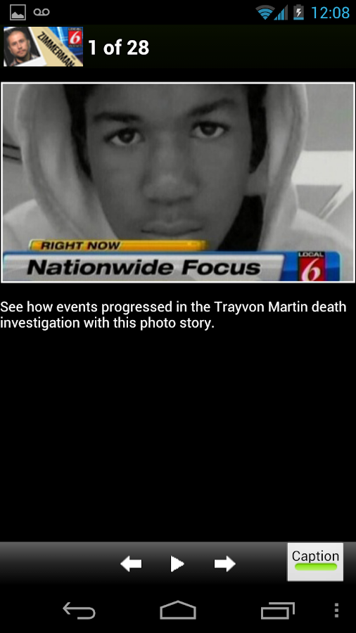 Zimmerman/Trayvon Martin Case - screenshot