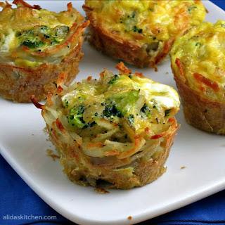 Broccoli, Cheddar & Egg Hashbrowns Cups.