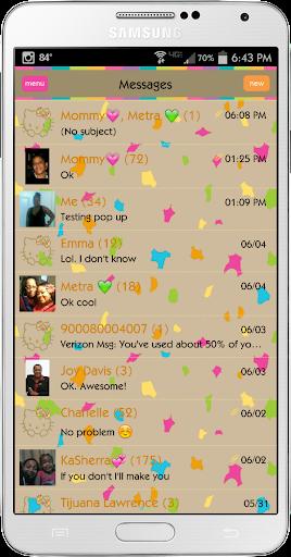 Pretty Leopard Go SMS