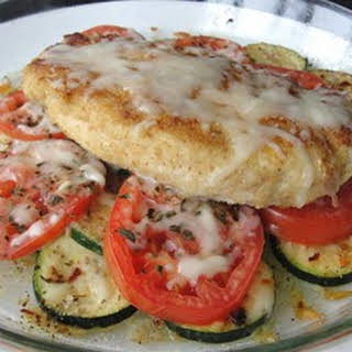 Baked Chicken and Zucchini.