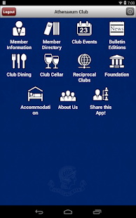 Athenaeum Club App- screenshot thumbnail
