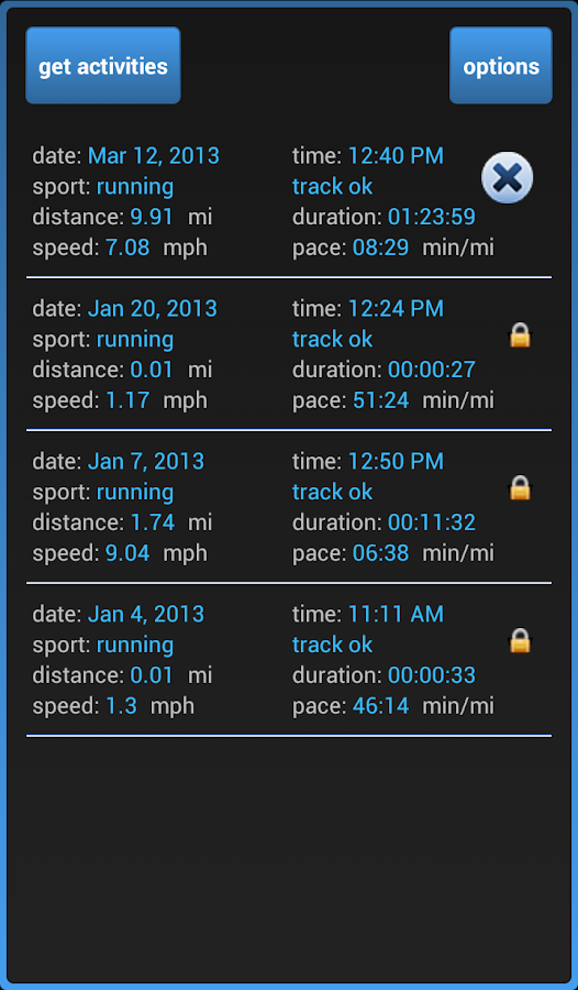 Uploader for Garmin - screenshot