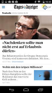 Tages-Anzeiger Screenshot 1