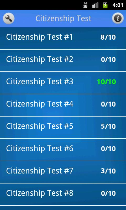 US Citizenship Test- screenshot