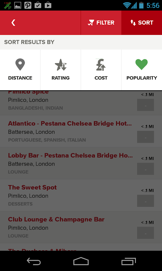 Zomato - Restaurant Finder - screenshot