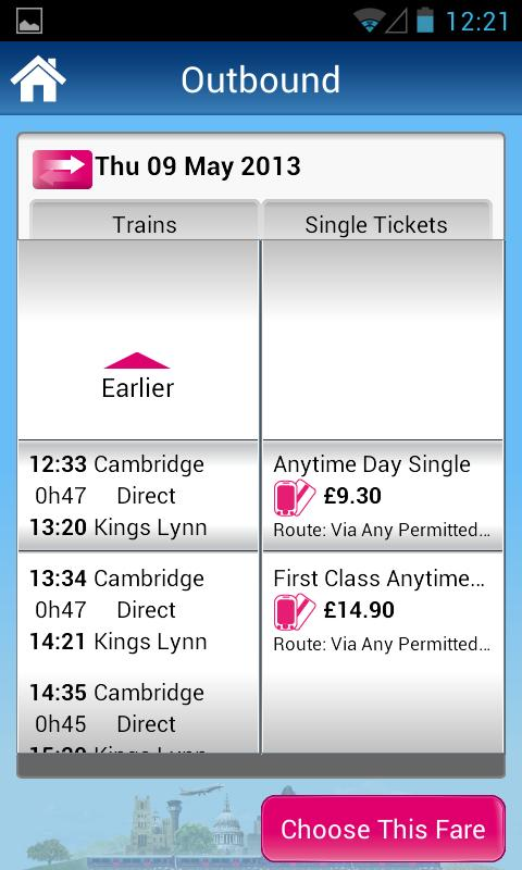 Rail Tickets - screenshot