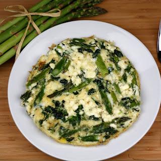 Asparagus, Spinach, and Feta Cheese Frittata.