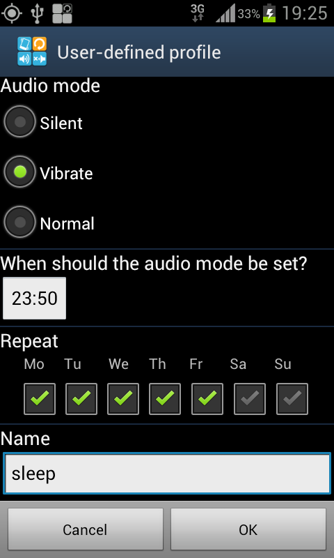 Audio Mode Switcher - screenshot