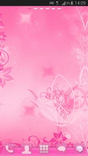 GO Launcher Pink Theme Flowers- screenshot thumbnail