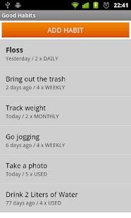 Good Habits- screenshot thumbnail