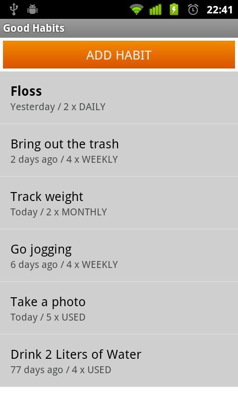 Good Habits- screenshot
