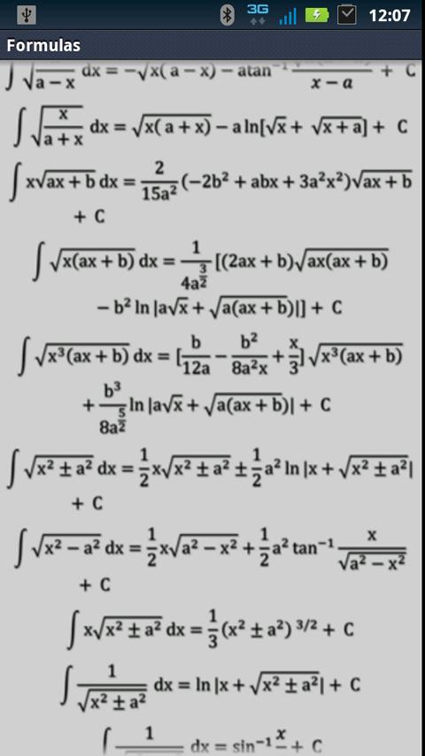 Integral derivative calculator- screenshot